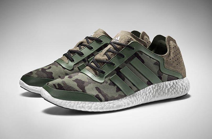 Камуфляжные кроссовки Adidas Pure Boost
