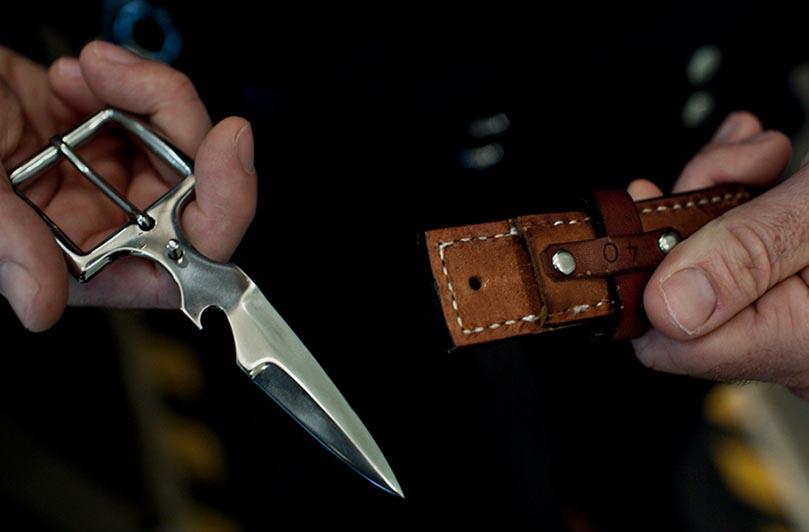Нож-пряжка