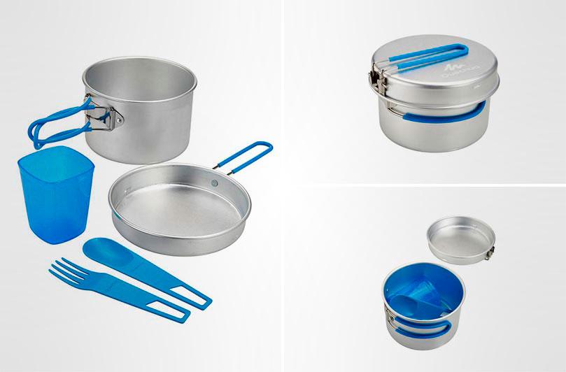 Туристический набор посуды Quechua