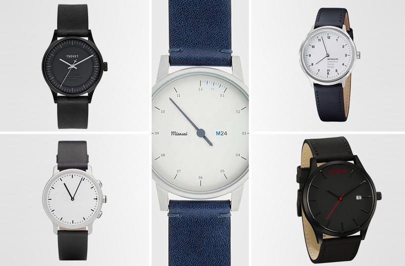 минималистские наручные часы