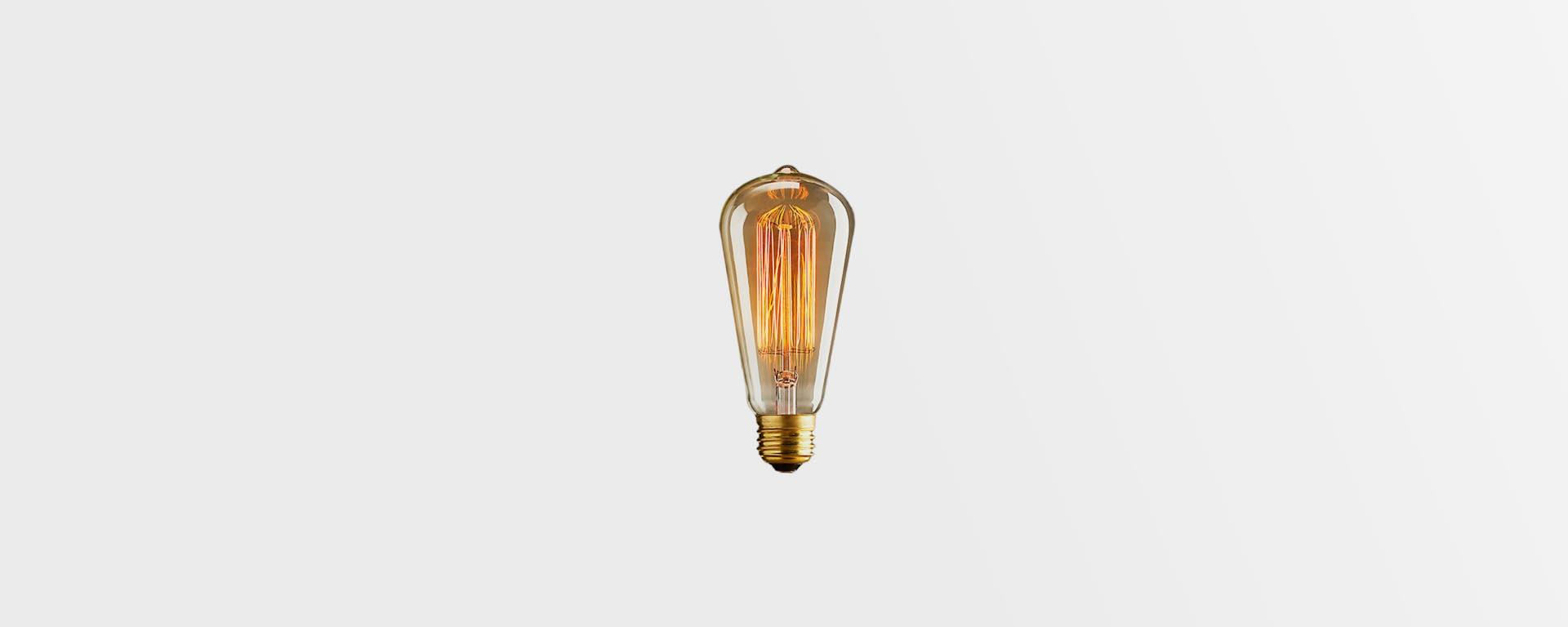 Винтажная лампочка
