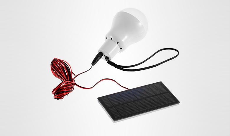 Походная лампа на солнечных батареях