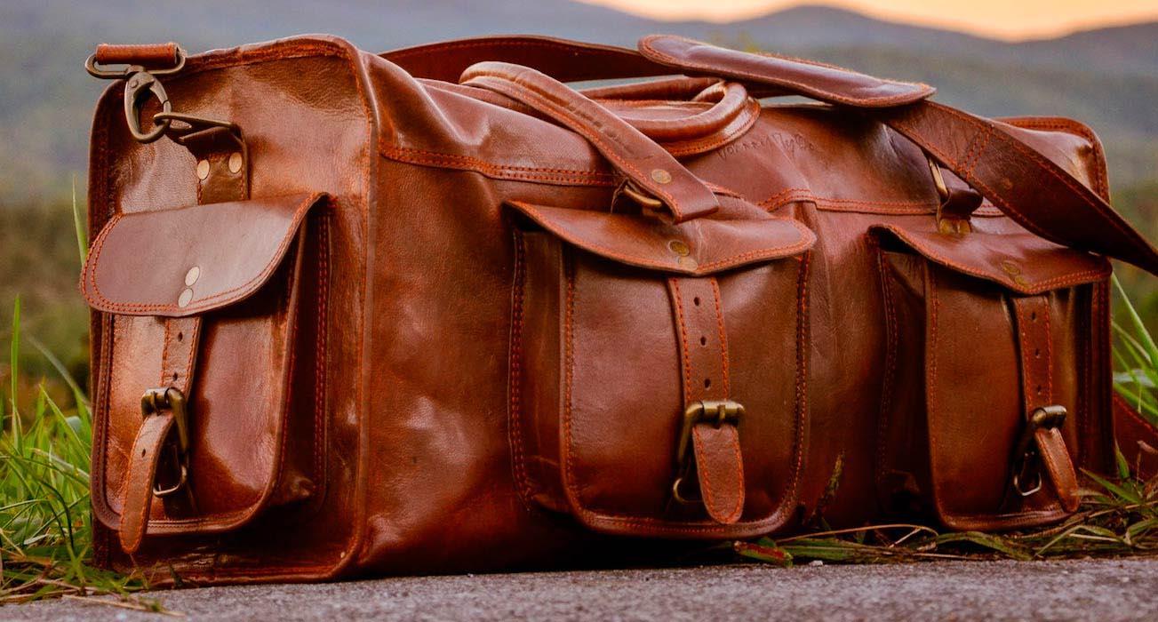 Кожаная дорожная сумка Jonny Fly
