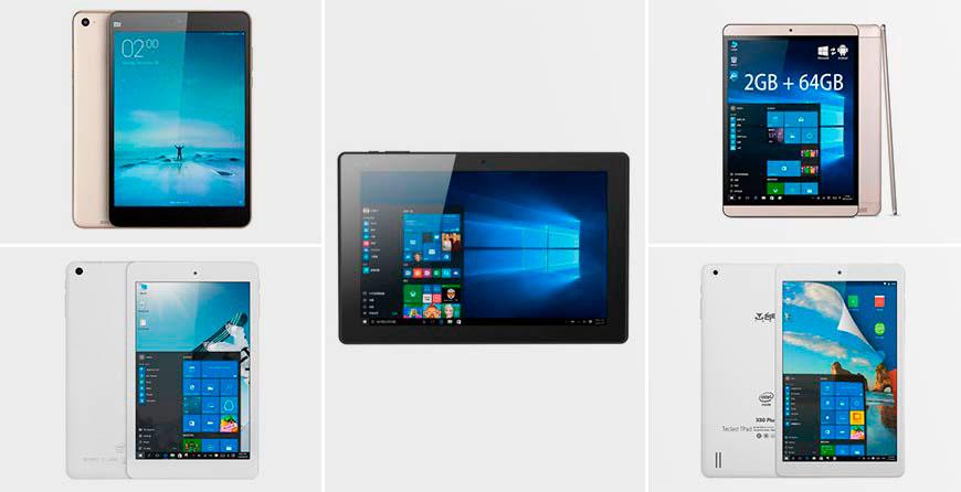 Топ 5: лучшие китайские планшеты на Windows 10