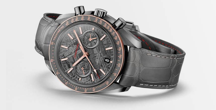 Часы OMEGA Speedmaster Grey Side of the Moon Meteorite