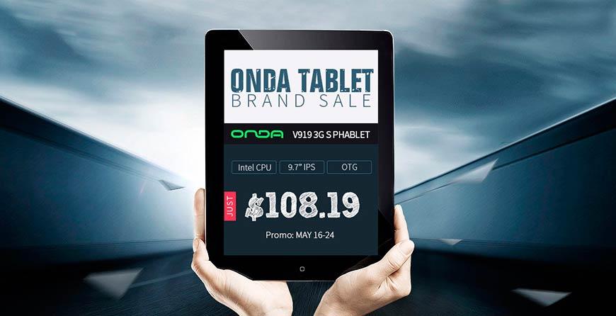 Флэш распродажа планшетов Onda