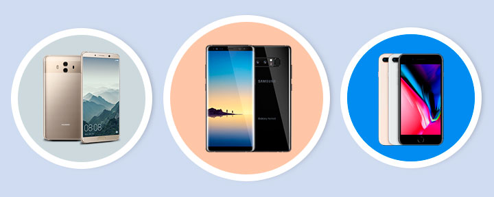 Huawei Mate 10 vs. Samsung Note 8 vs. iPhone 8 Plus