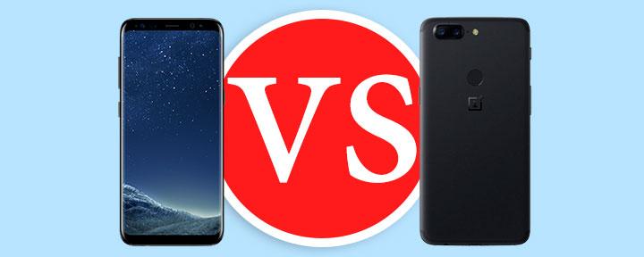 Samsung Galaxy S8 vs. OnePlus 5T