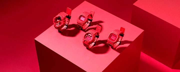 Casio G-Shock Red Out Collection