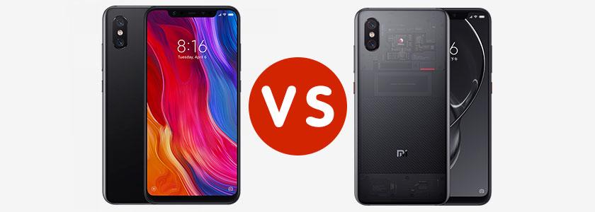 Xiaomi Mi 8 против Xiaomi Mi 8 Explorer